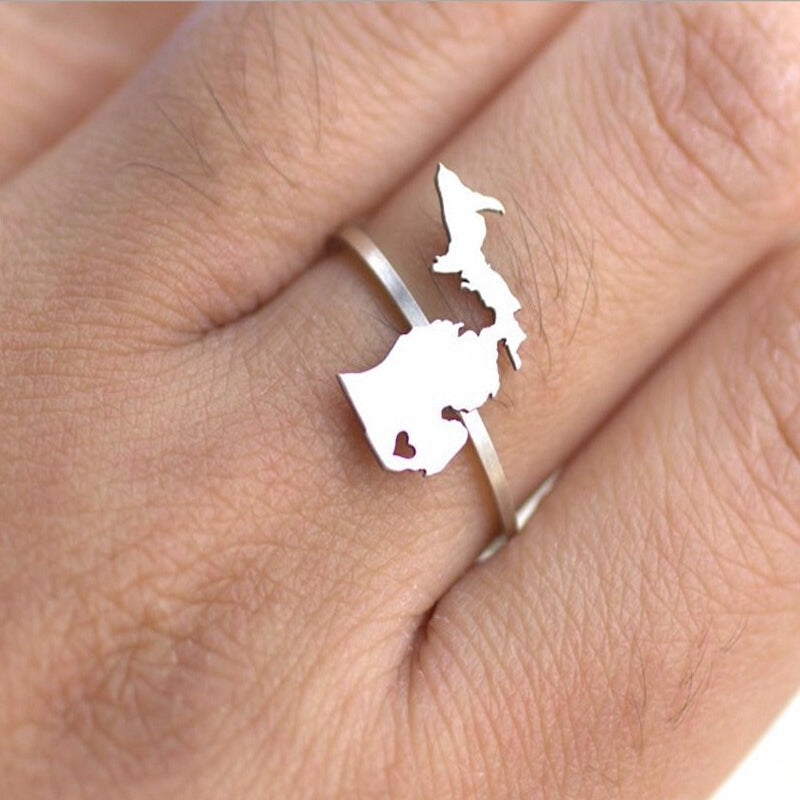 Michigan Love Adjustable Ring