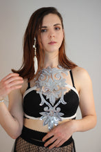 Silver Sequin Design Harness Top