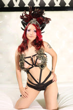 Gold and Black Lace Wings Body Harness