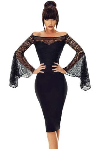 Gothic Adams Black Lace Dress