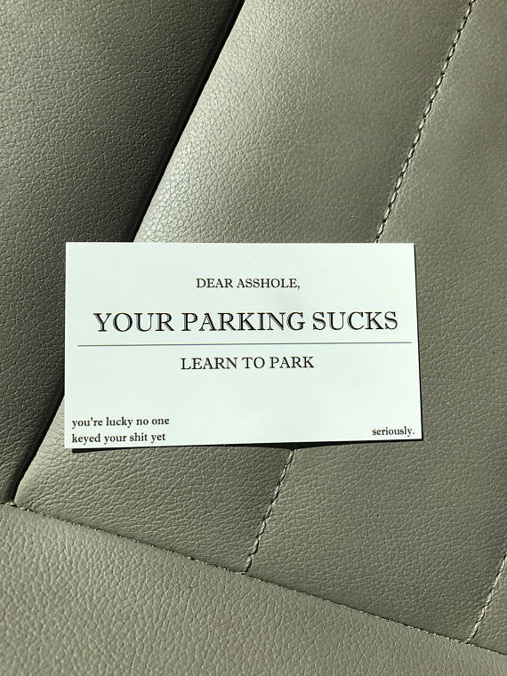Your parking sucks business cards