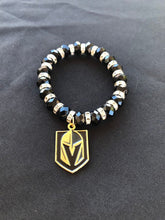 VGK Vegas Golden Knights rhinestone beaded bracelet