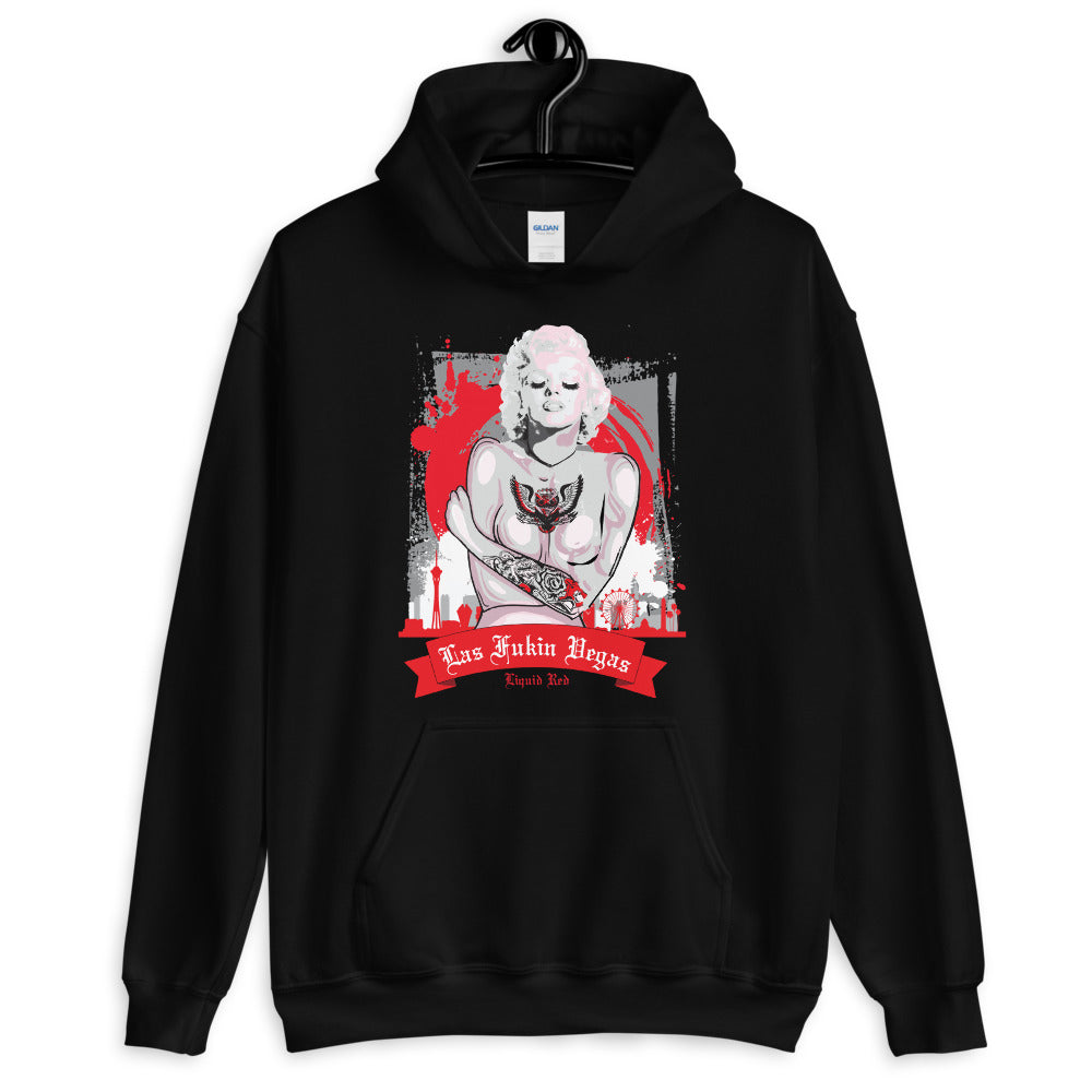 Tattooed Girl Arms Crossed Las Vegas Unisex Hoodie Sweatshirt
