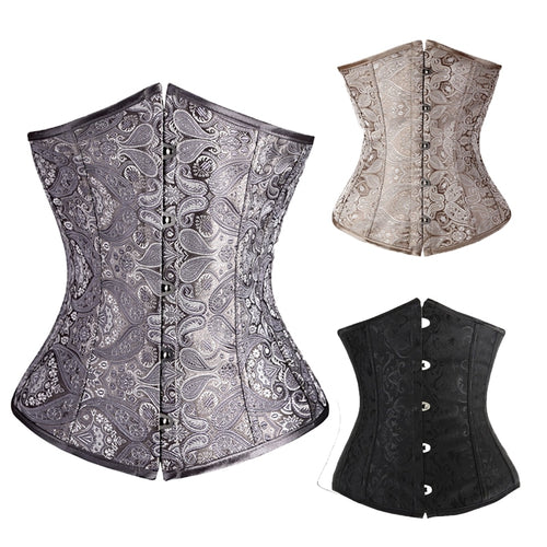 Lace Up Back Baroque Vintage Bustier Underbust Corset