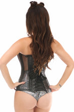 Black Fishnet Steel Boned Over Bust Corset