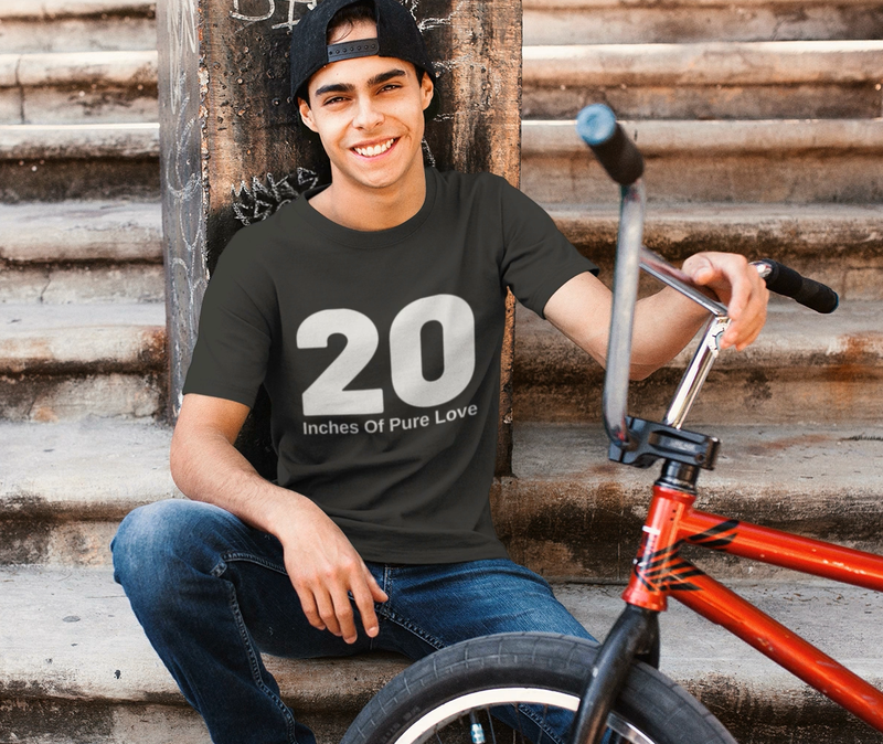 20 Inches Of Pure Love BMX Short-Sleeve T-Shirt