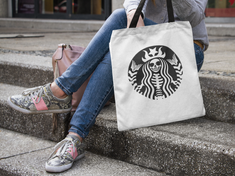 Starbucks Day Of The Dead Tote bag