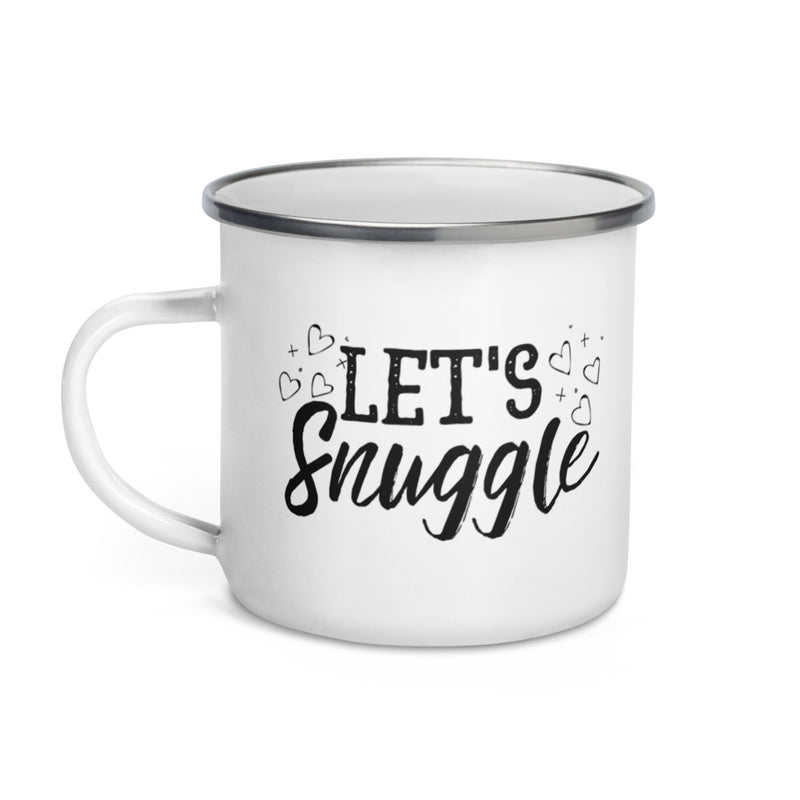 Let's Snuggle Enamel Coffee Mug