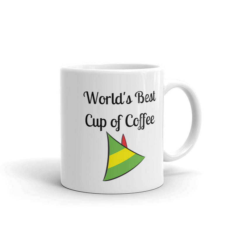 World's Best Cup Of Coffee Elf Movie Christmas Mug