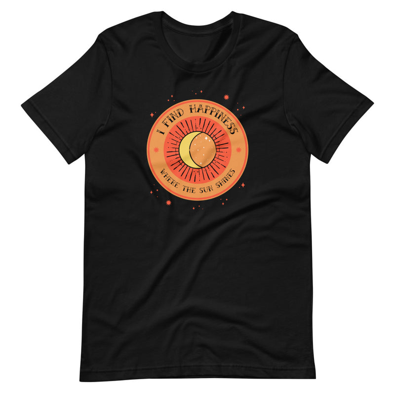 I Find Happiness Where The Sun Shines Short-Sleeve T-Shirt