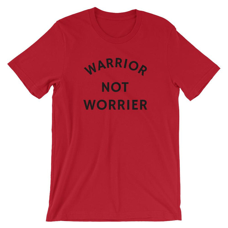 Warrior Not Worrier Short-Sleeve Unisex   T-Shirt
