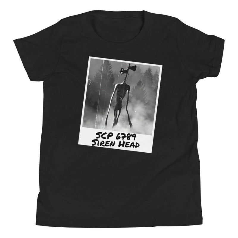 SCP 6789 Siren Head Youth Short Sleeve T-Shirt