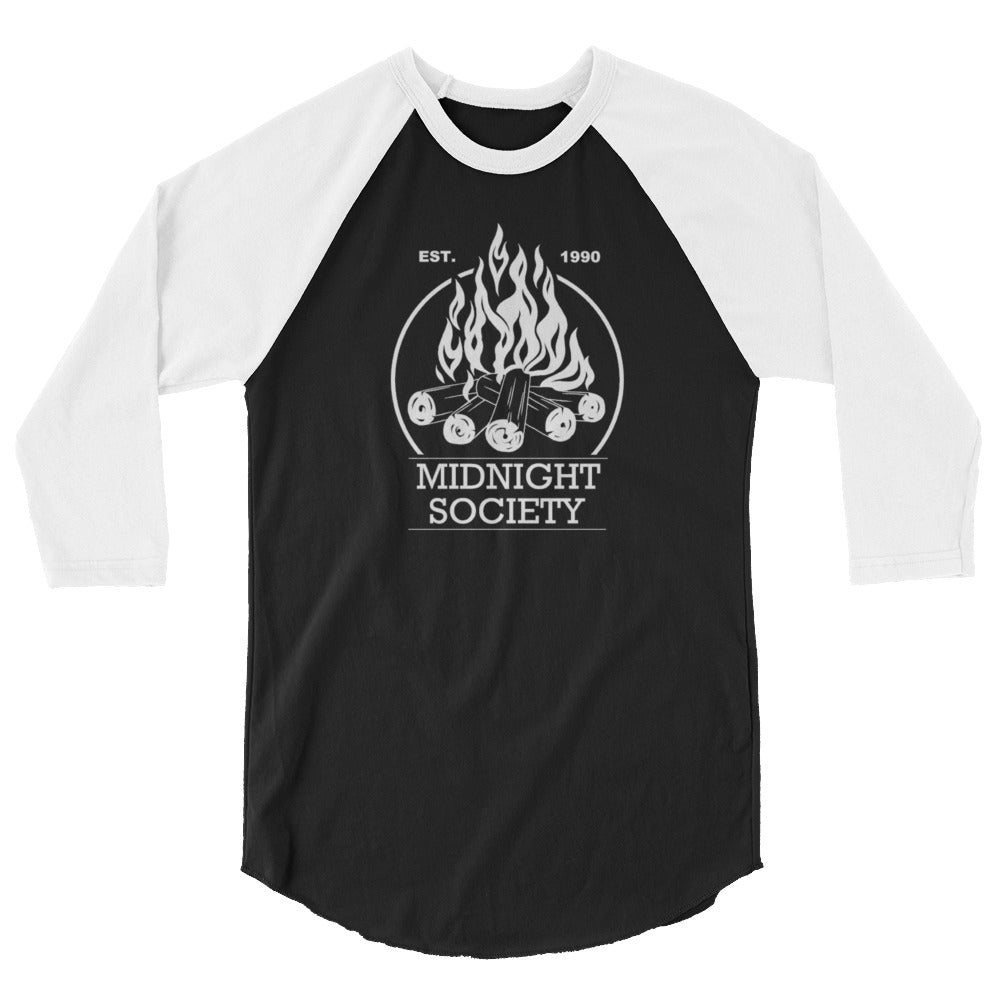 Midnight Society Are You Afraid Of The Dark   Baseball T-Shirt