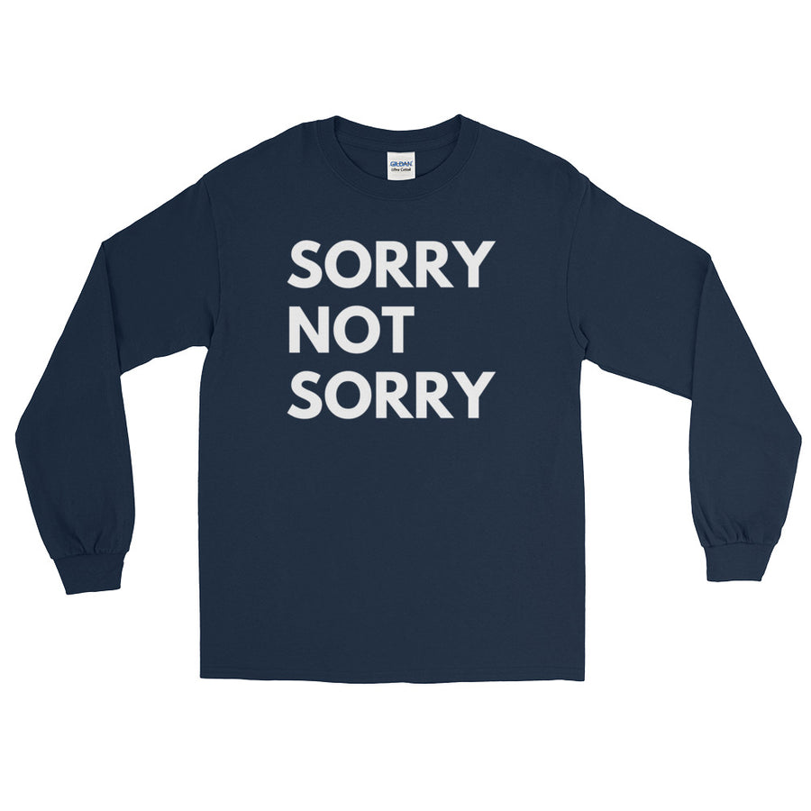 120994db Sorry Not Sorry Long Sleeve T-Shirt – Corked Brew
