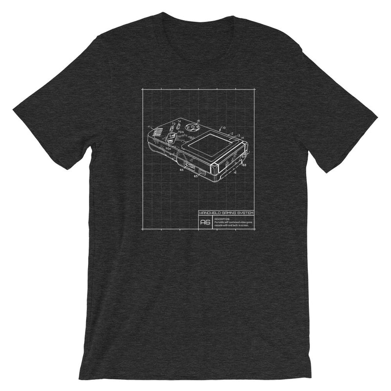 Game Boy Blueprint Short-Sleeve Unisex T-Shirt
