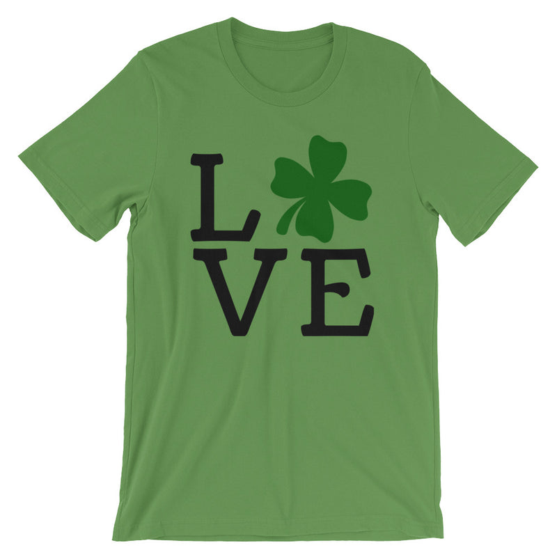 Love Clover Saint's Patrick's Day Short-Sleeve Plus Sized T-Shirt