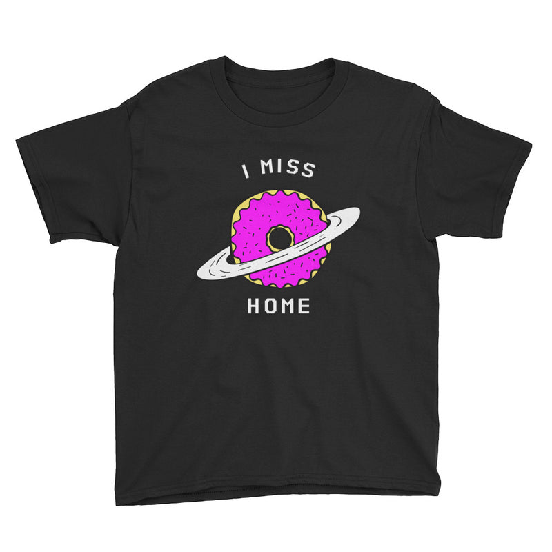 I Miss Home Planet Donut Youth Short Sleeve T-Shirt