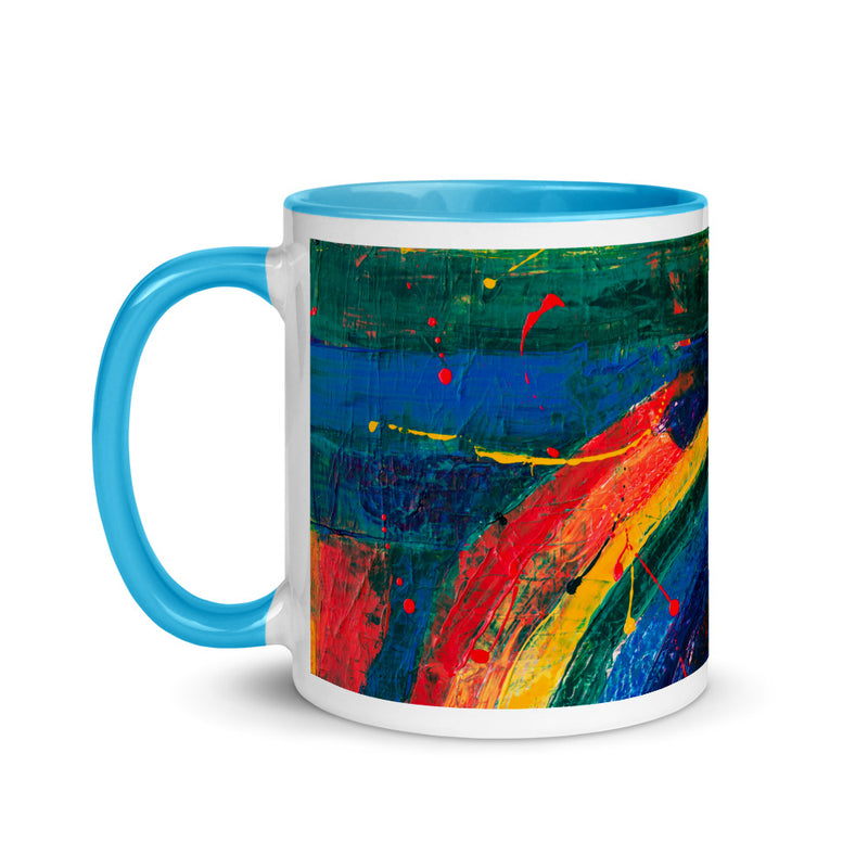 Canvas Rainbow Abstract Art Coffee Mug