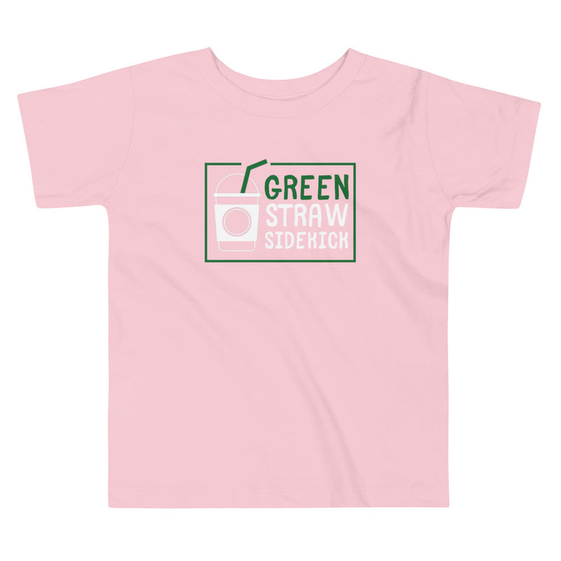 Starbucks Green Straw Sidekick Toddler Short Sleeve Tee