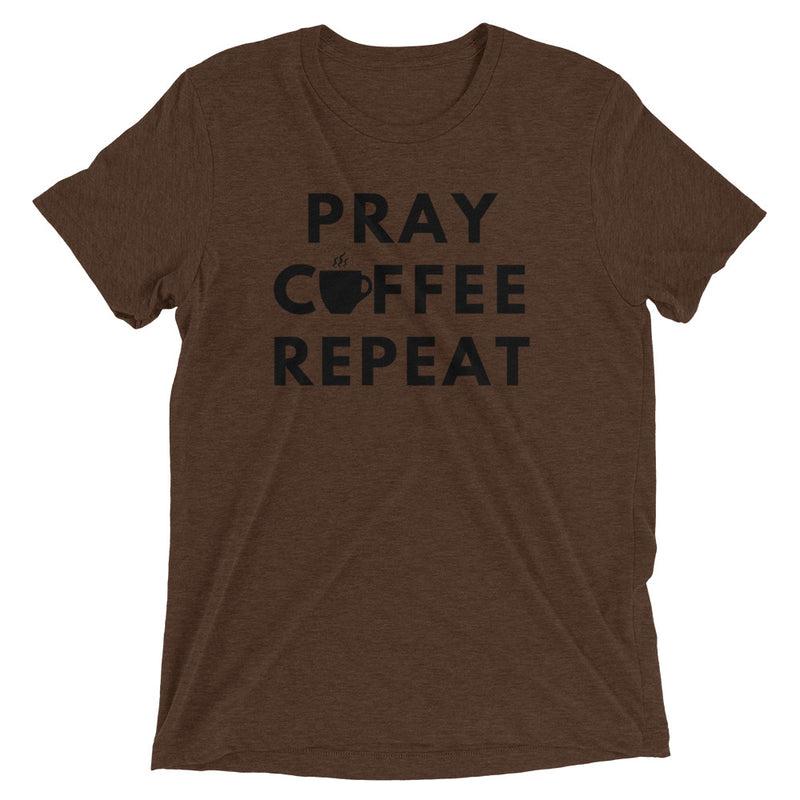 Pray Coffee Repeat Short Sleeve   T-Shirt
