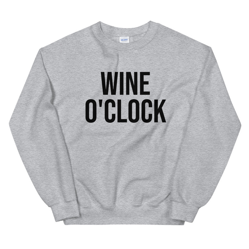 Wine O'Clock Crew Neck Sweatshirt