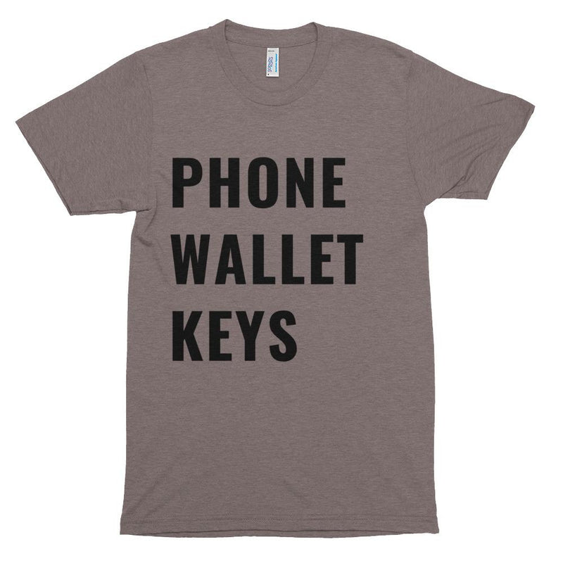 Phone Wallet Keys Short Sleeve T-Shirt
