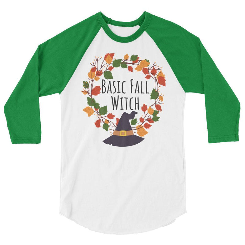 Basic Fall Witch 3/4 Sleeve Baseball Shirt