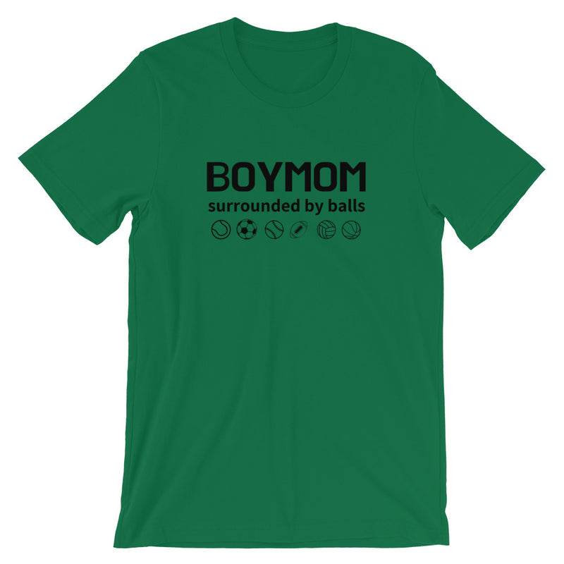 BoyMom Surrounded By Balls   Short-Sleeve T-Shirt