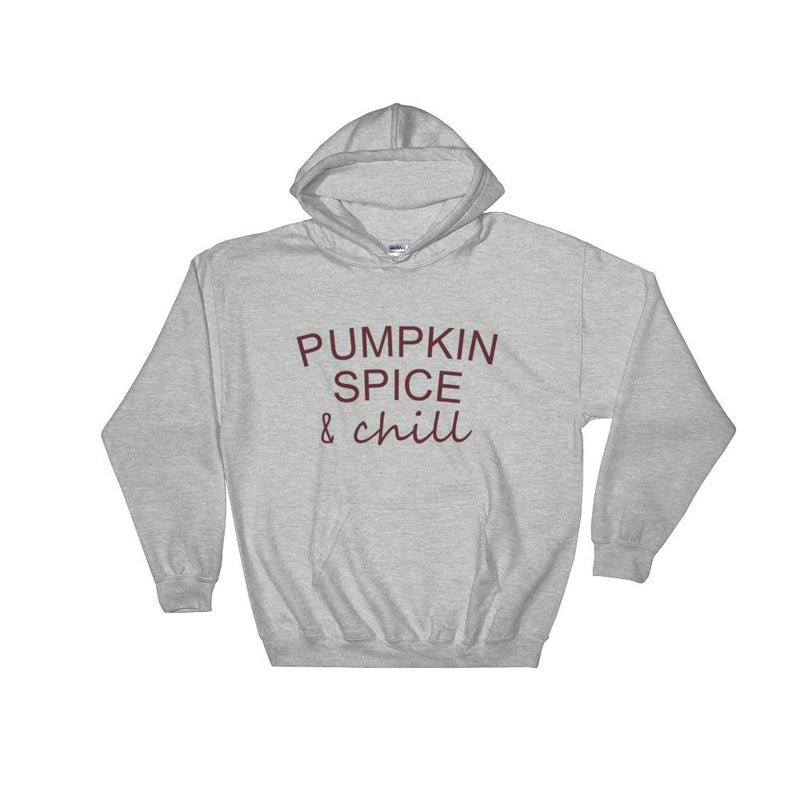 Pumpkin Spice & Chill Hooded Sweatshirt Knit