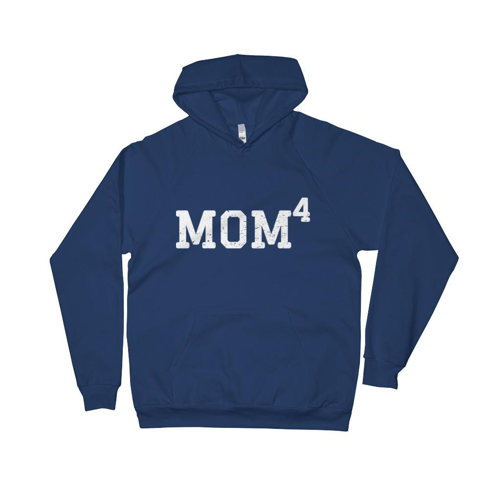 Mom 4, Unisex Fleece Hoodie (Blue)
