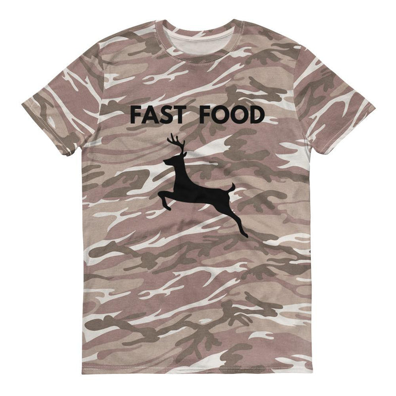 Fast Food Deer Short-Sleeved Camouflage T-Shirt