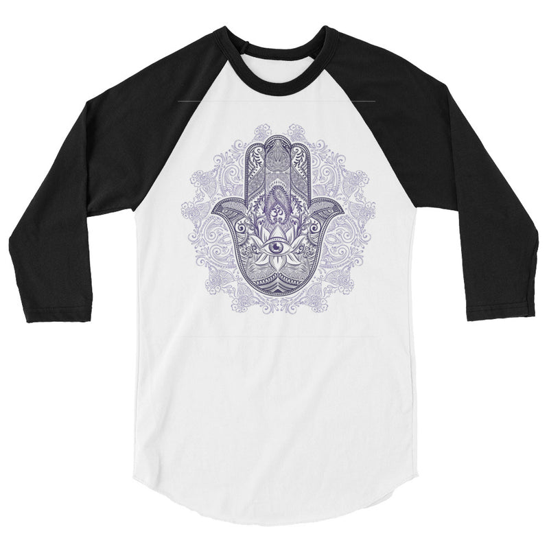 Hamsa Evil Eye Spiritual Protection Symbol   Baseball Tee