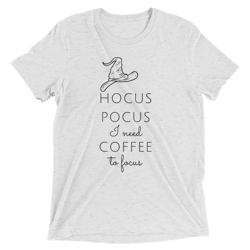 Hocus Pocus I Need Coffee To Focus Short sleeve t-shirt