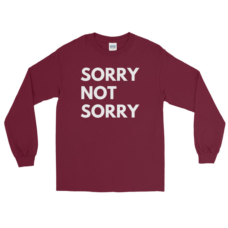 Sorry Not Sorry Long Sleeve Plus Size T-Shirt