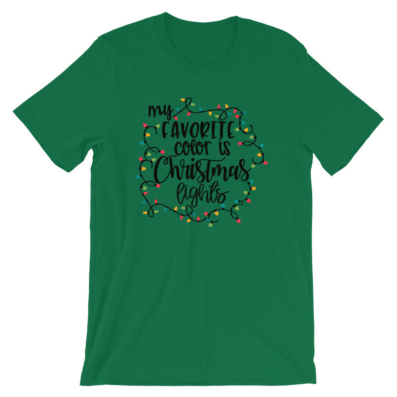 My Favorite Color Is Christmas Lights Short-Sleeve T-Shirt