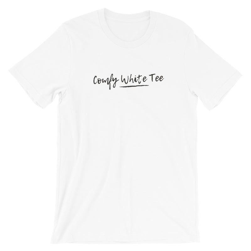 Comfy White Tee Short-Sleeve Unisex T-Shirt