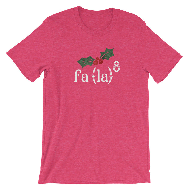 Christmas Fa La La La Math Short-Sleeve Unisex T-Shirt