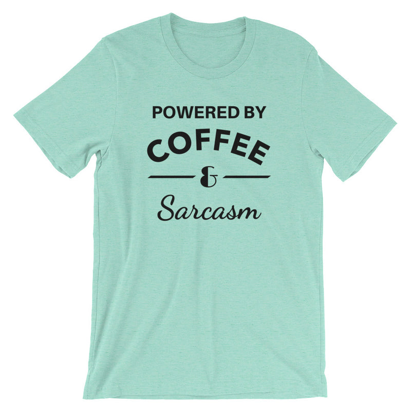 Powered By Coffee & Sarcasm Short-Sleeve   T-Shirt