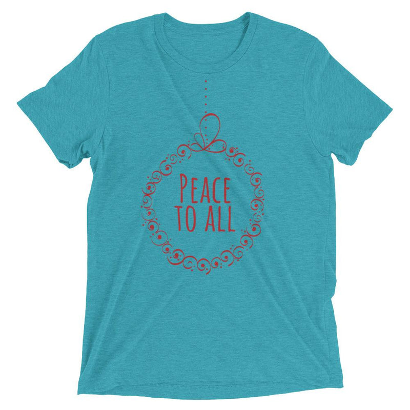 Peace To All Christmas Short Sleeve T-shirt