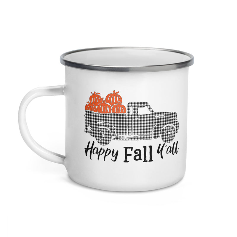 Happy Fall Y'all Enamel Coffee Mug