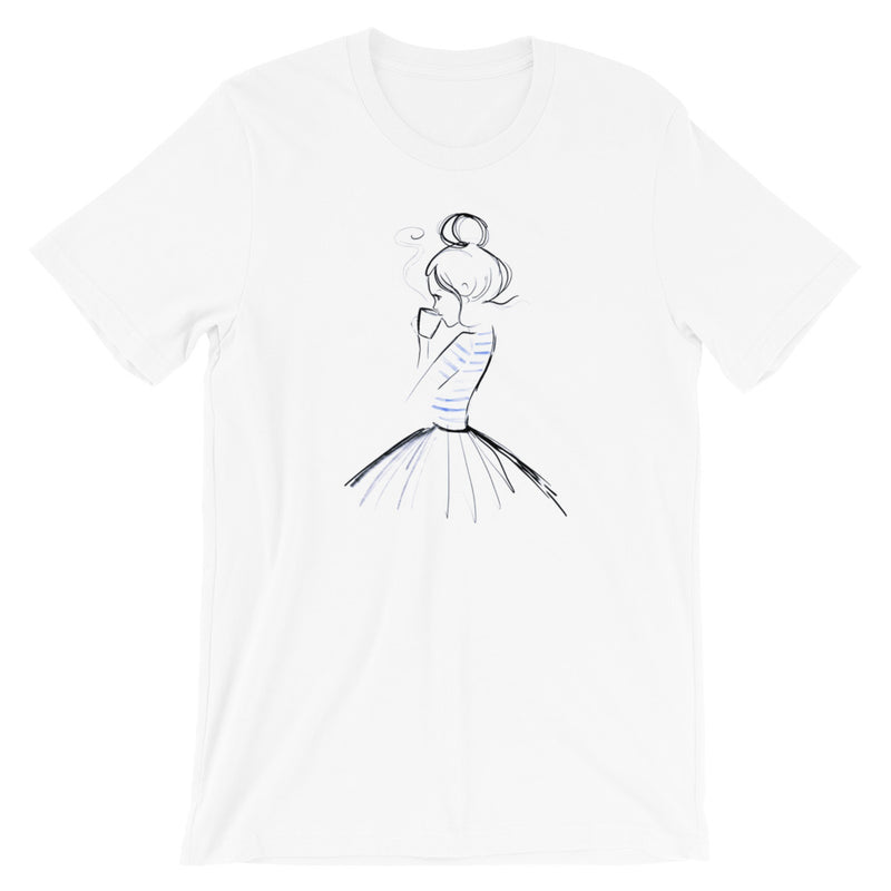 Ballet, Bun, and Coffee. #graphictee