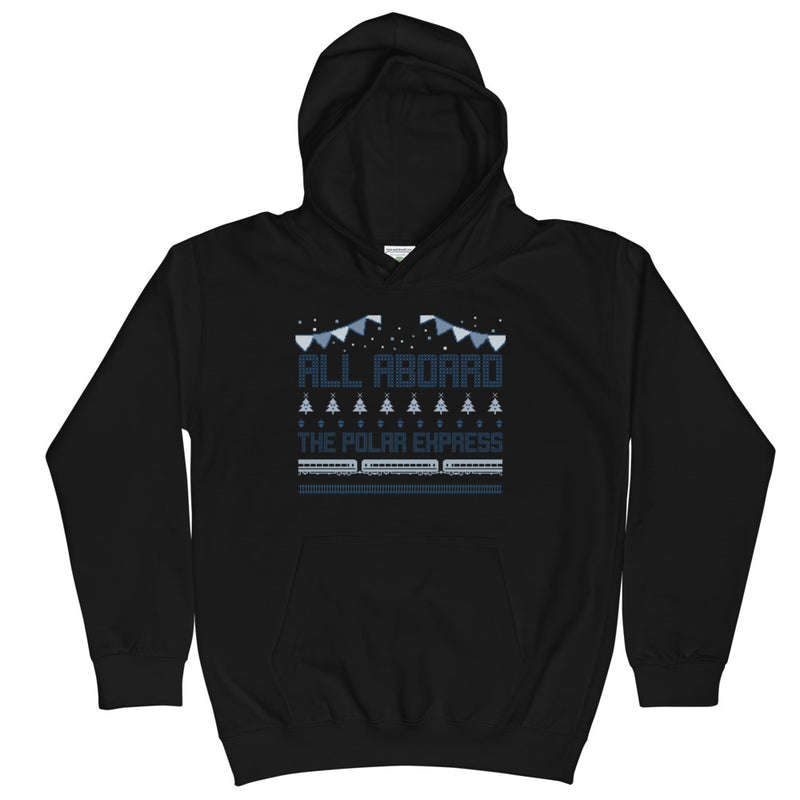 All Aboard The Polar Express Kids Hoodie