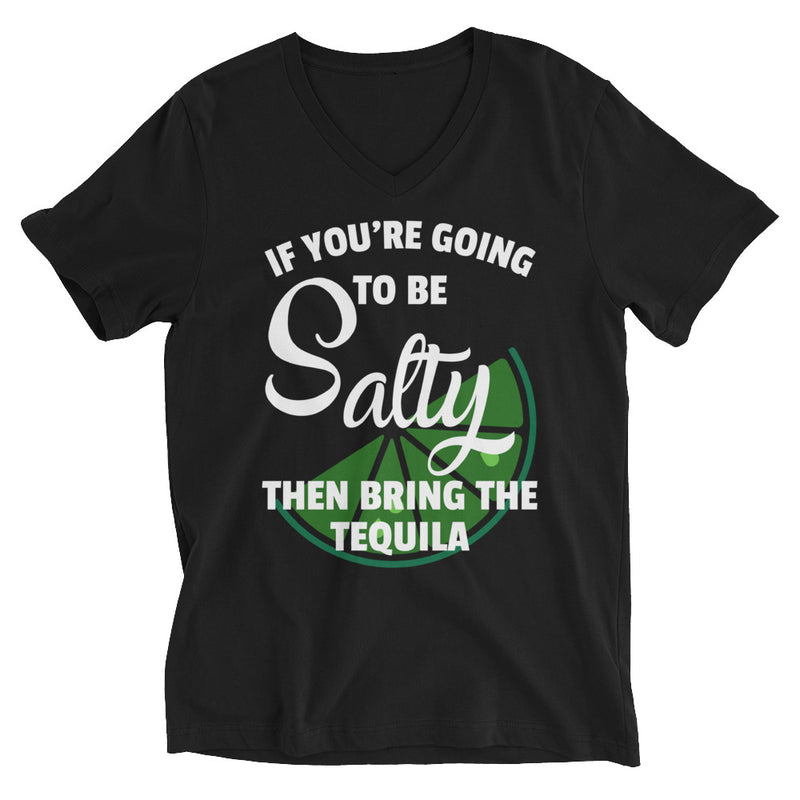 Salty Short Sleeve V-Neck T-Shirt