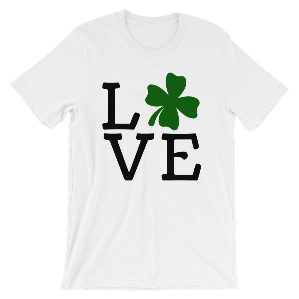 Love Clover Saint's Patrick's Day Short-Sleeve  d T-Shirt