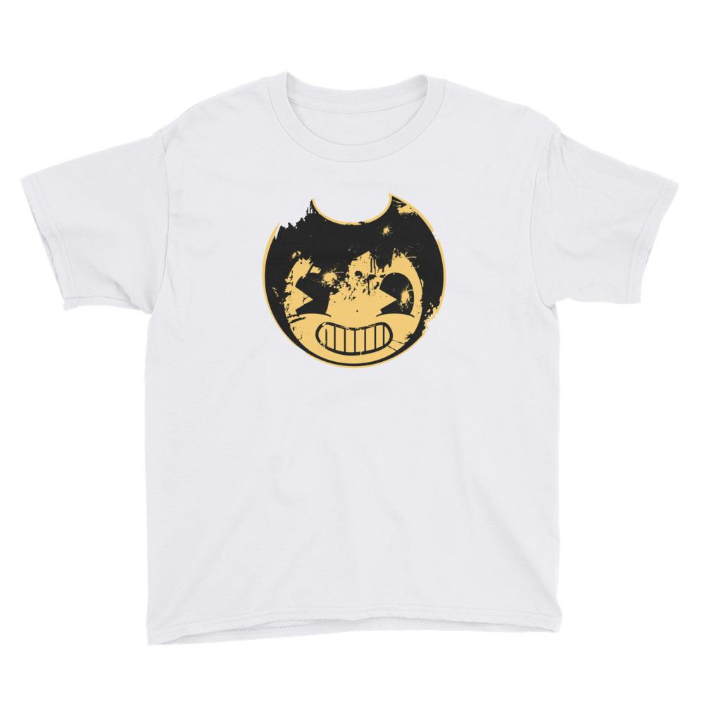 Bendy And The Ink Machine Face Worn Youth Short Sleeve T-Shirt