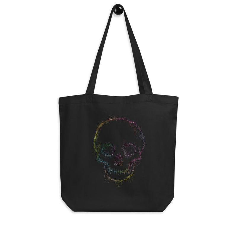 Pointillism Rainbow Skull Eco Tote Bag