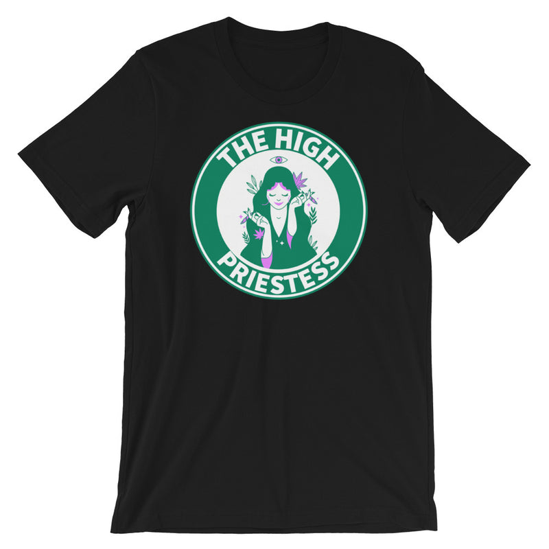 The High Priestess Starbucks Style Short-Sleeve T-Shirt