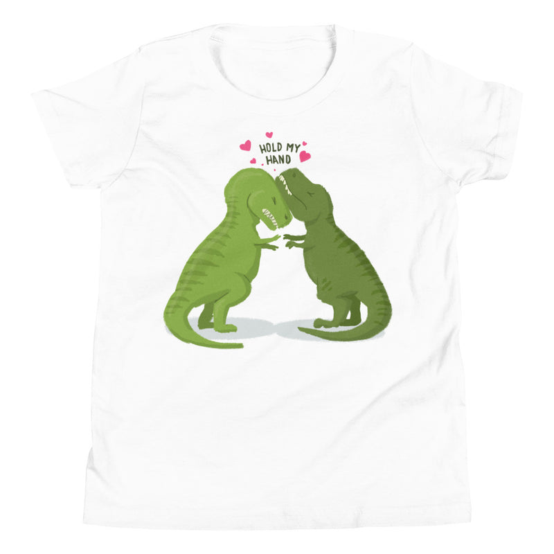 Hold My Hand T-Rex Youth Short Sleeve T-Shirt