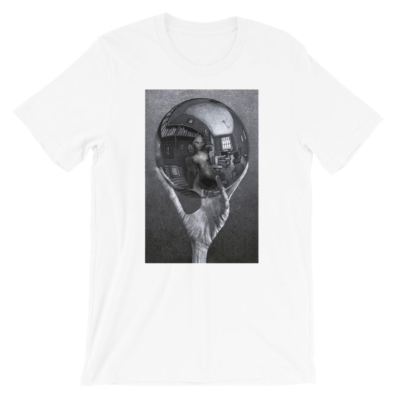 M.C. Escher Alien Hand with Reflecting Sphere Short-Sleeve T-Shirt