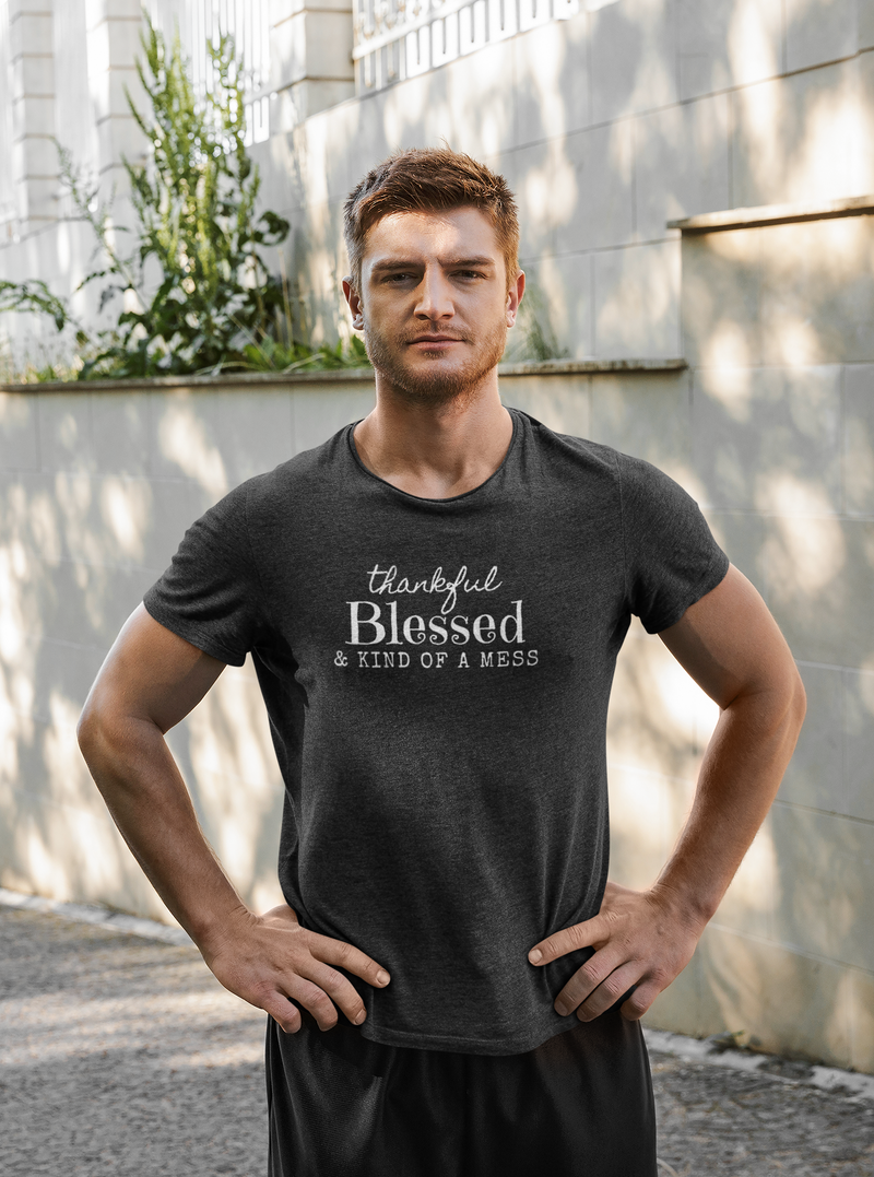 Thankful Blessed And Kind Of A Mess Short-Sleeve T-Shirt
